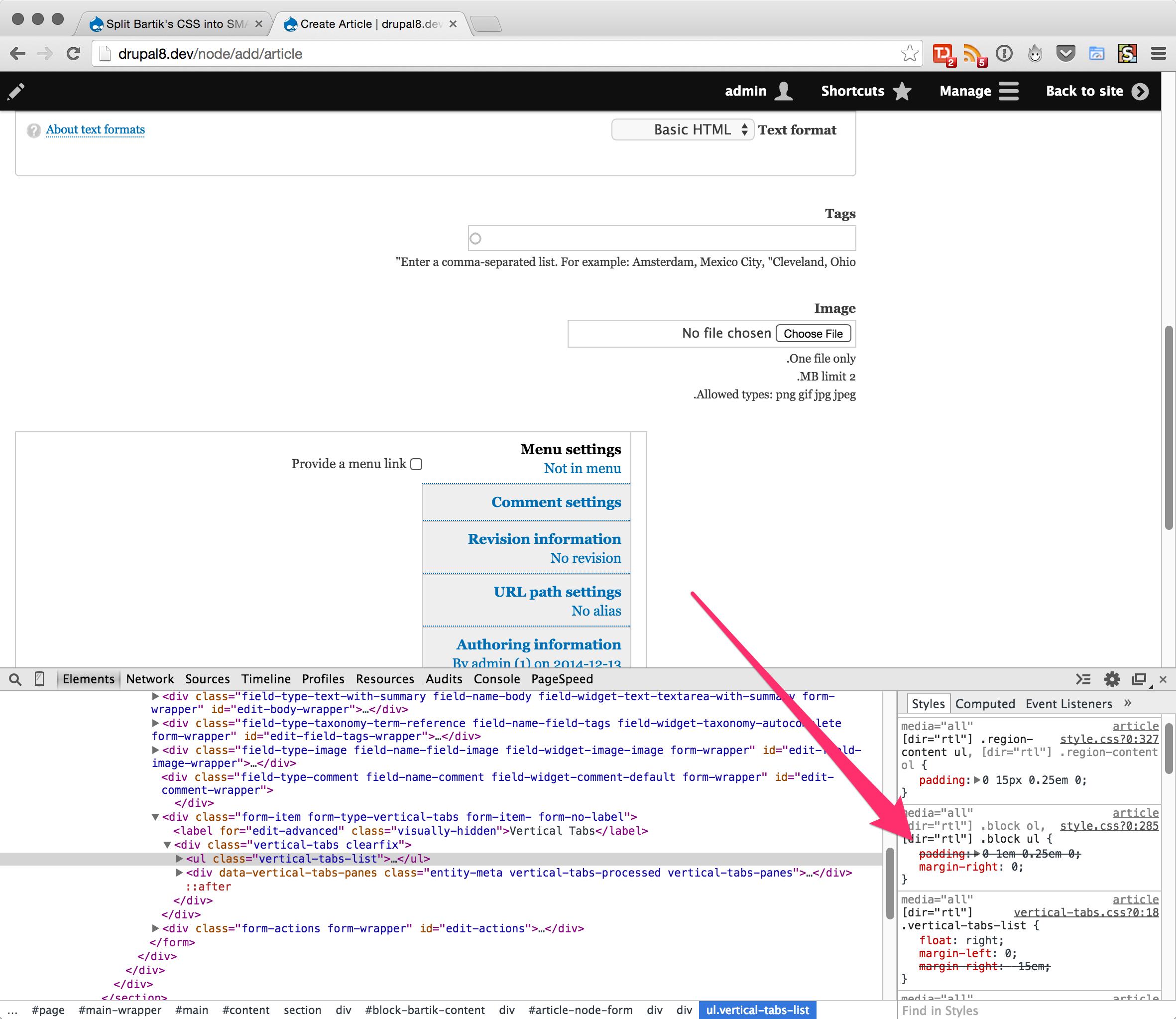Split Bartik's CSS into SMACSS style components [#2375673]   Drupal org