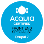 Acquia Certified Front End Specialist - Drupal 7 Badge
