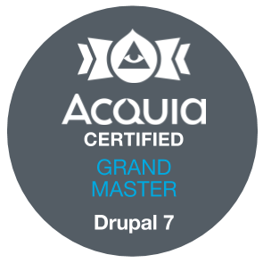 Acquia Certified Grand Master - Drupal 7 Badge