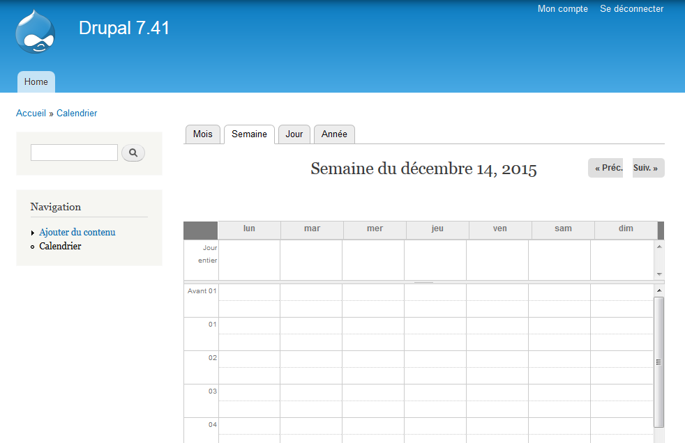 Bad Date Format In Week And Day Calendar View In French - Calendar format