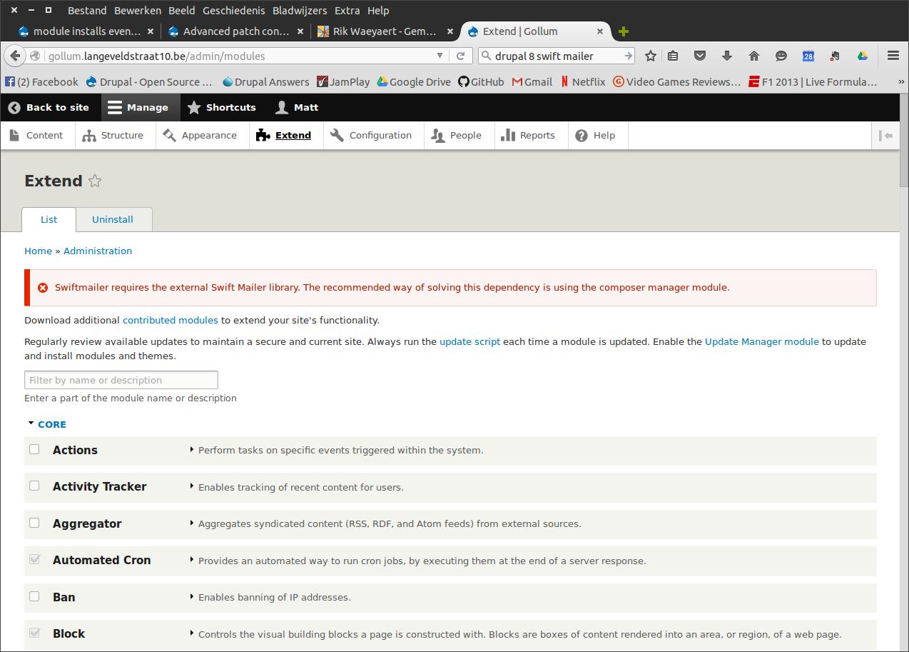 module installs even when composer dependencies aren't met