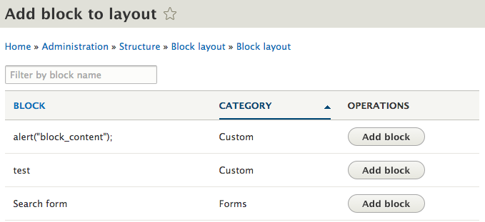 add new block bootstrap how to