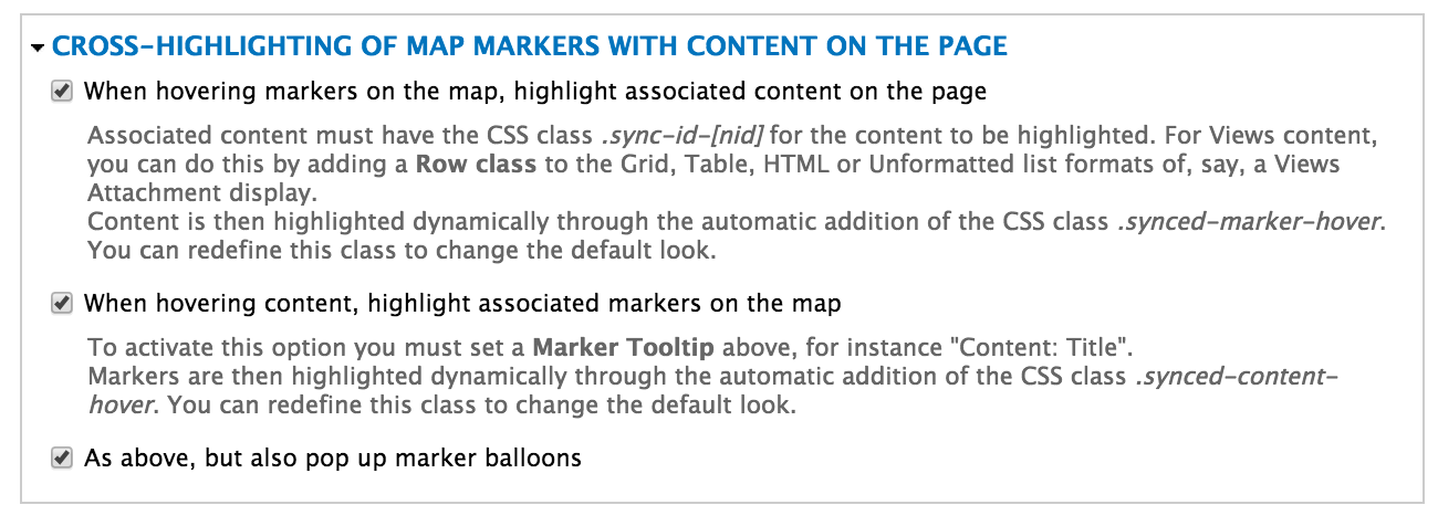 Trigger marker popup when attachment table row is clicked