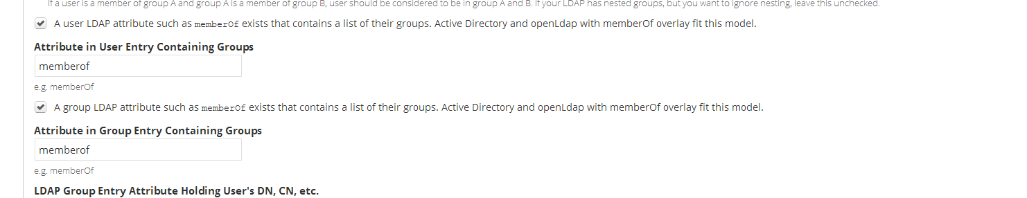 LDAP Authorization: Support for nested groups from memberOf