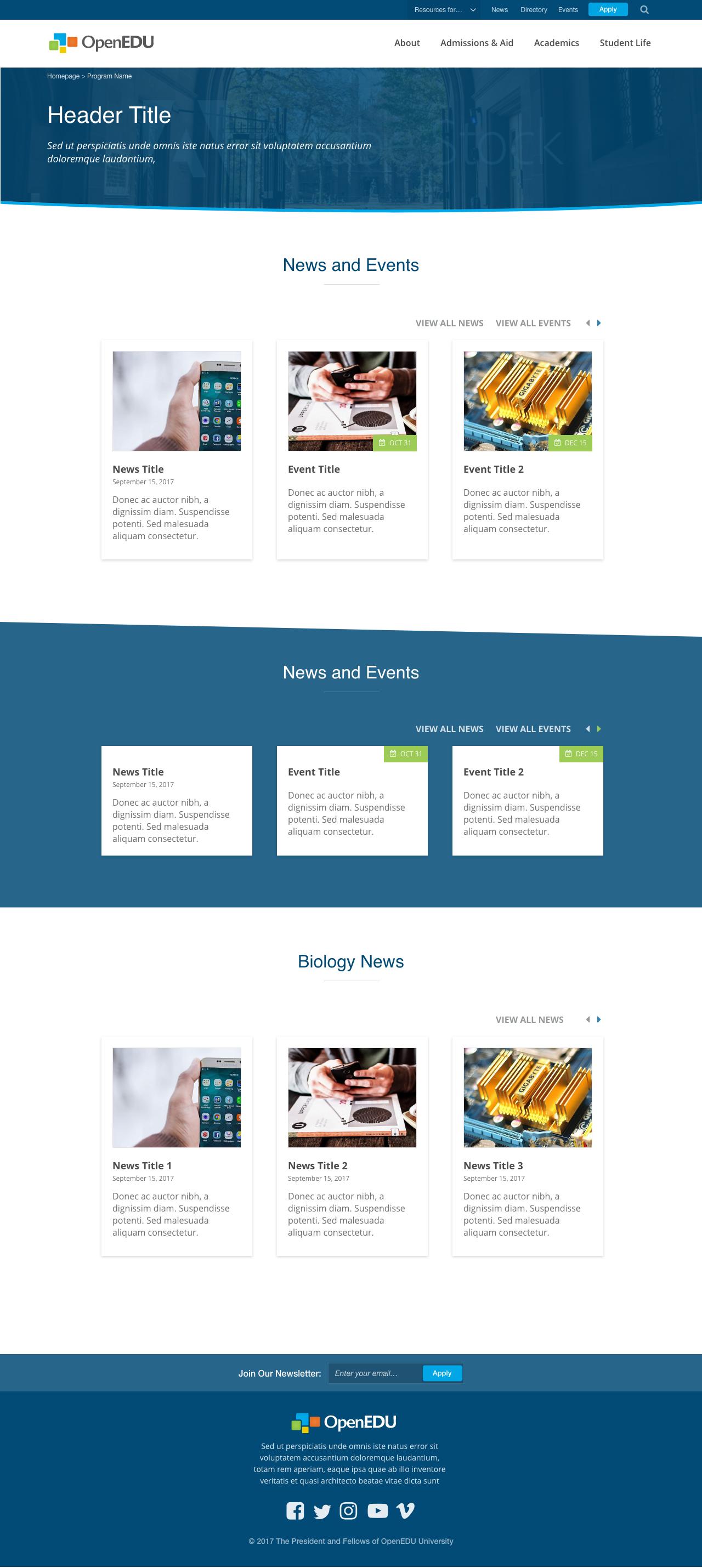 Add News and events listing widget [#2910539] | Drupal org
