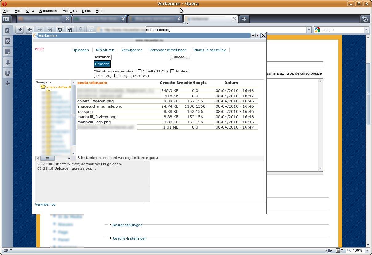 IMCE Can't Upload with Opera Browser on Linux platform [#770860
