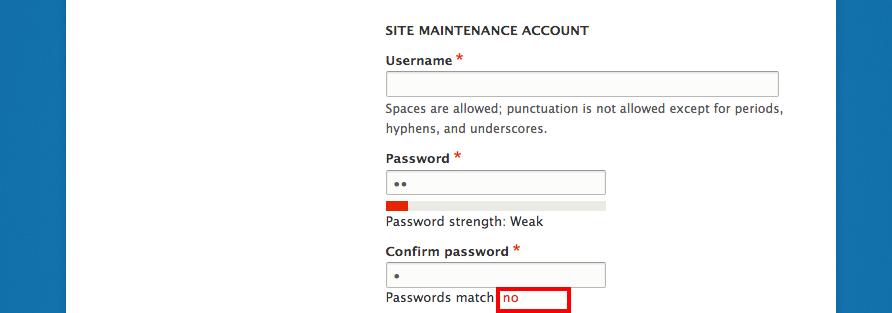 Match com password