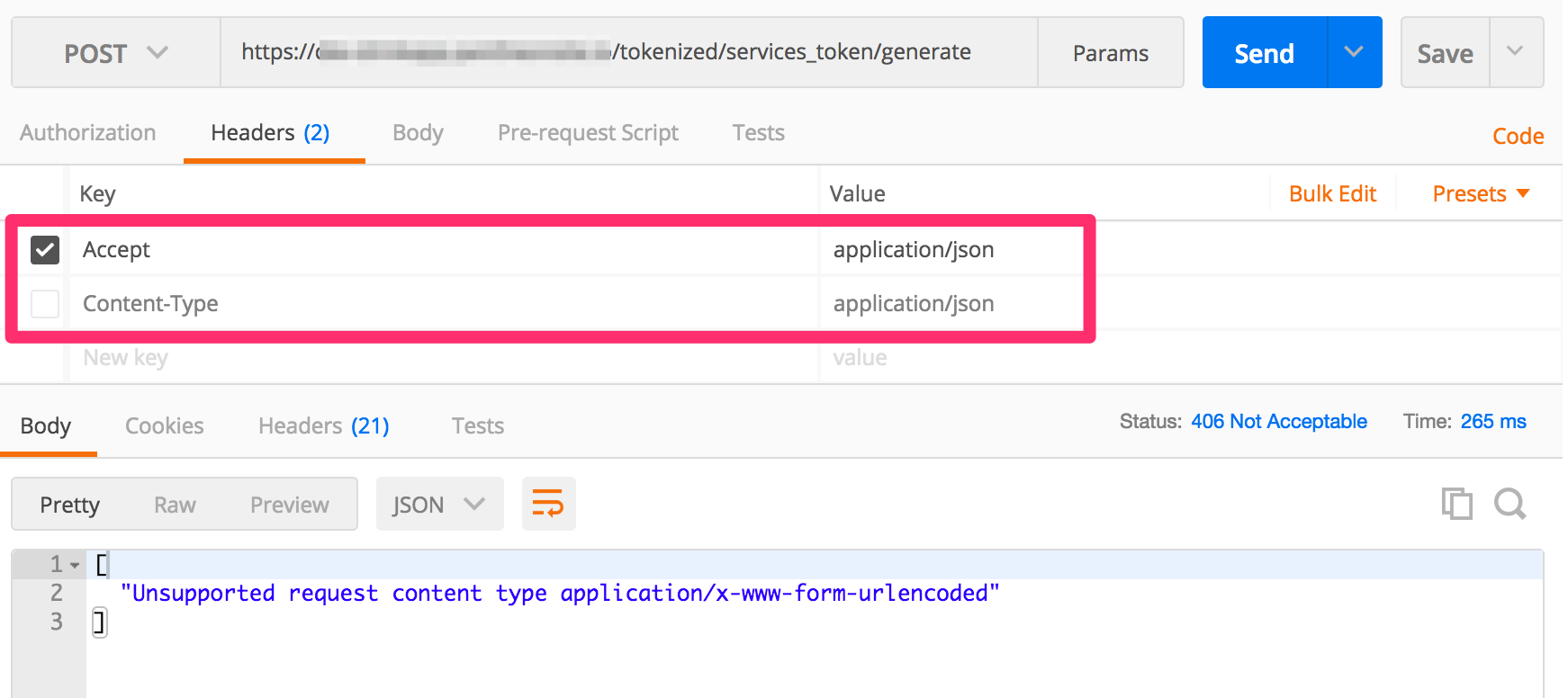 services_token/generate returns null if no authentication