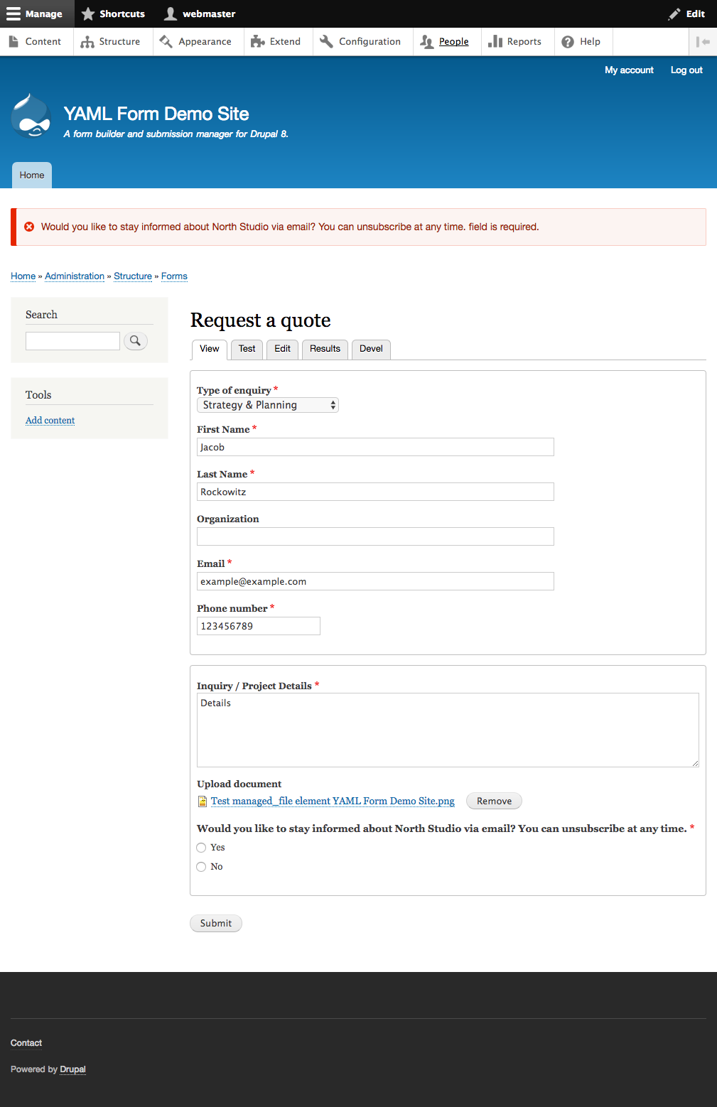 form wizard pages doesn t work well with required fileds