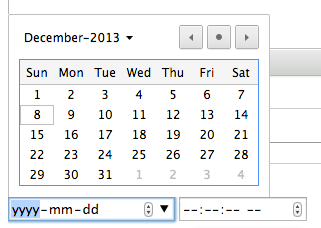 Lovely date picker