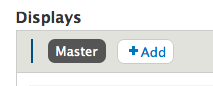 A dummy blank space, + a dead button called 'Master', + the add button.