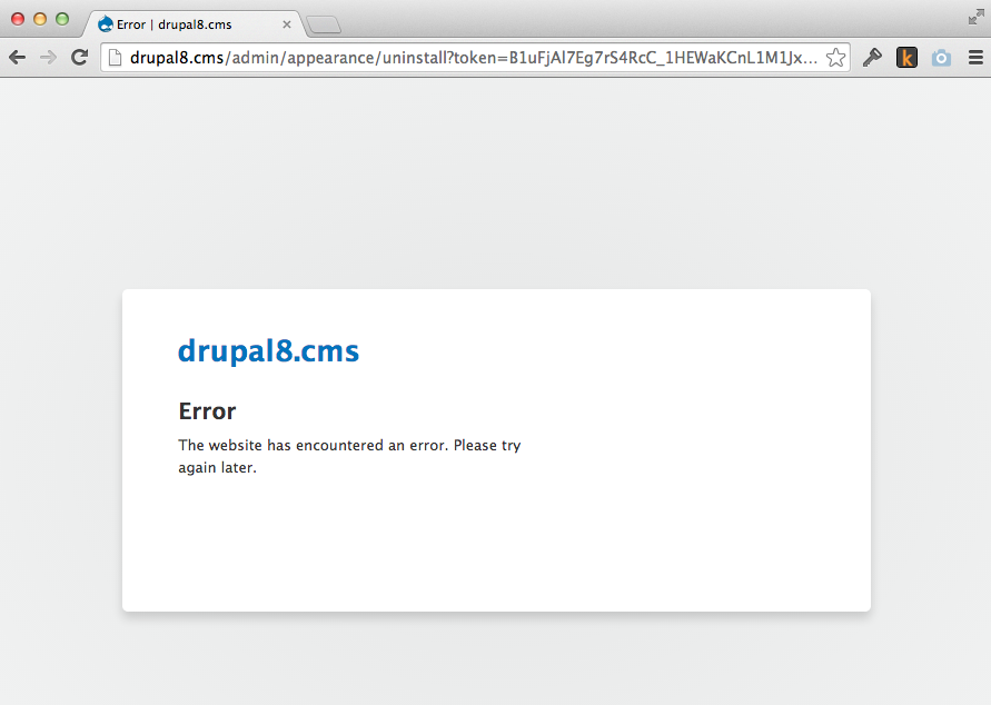 drupal uninstall themes