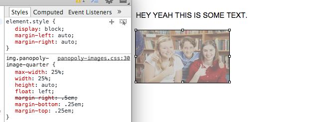 Panopoly Images CSS breaks WYSIWYG center align  [#2378559