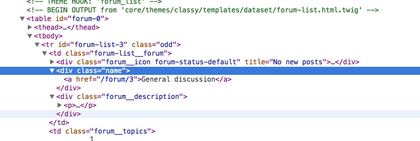 Replace a class in forum-list html twig with a BEM class