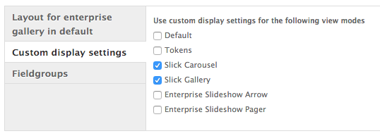 Enabled View Modes