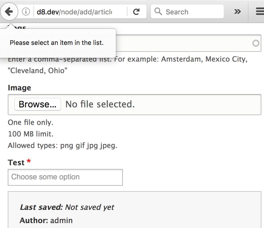 Client-side-validation broken with Chosen [#2705891] | Drupal.org