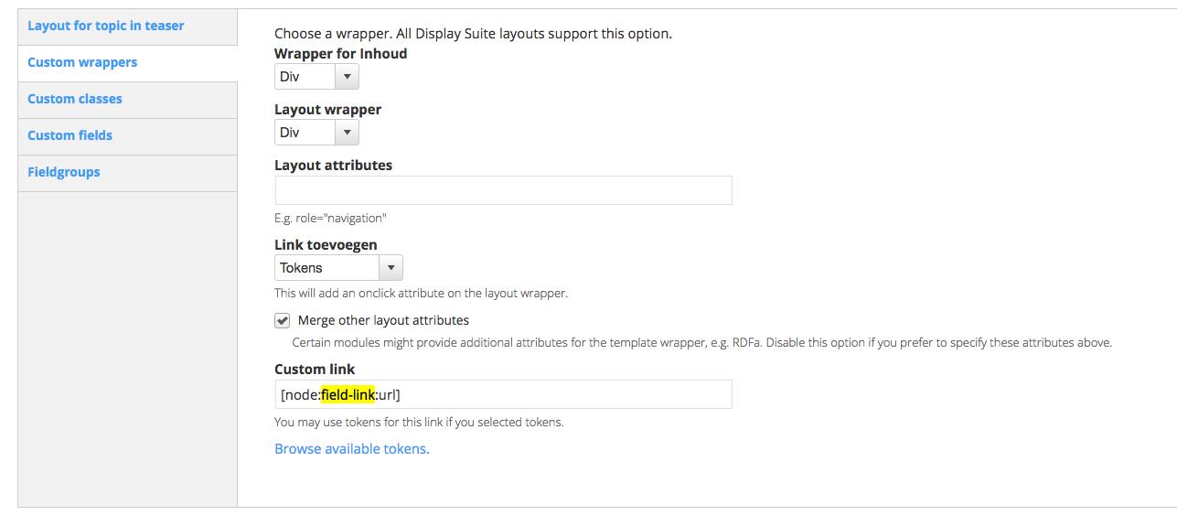 Custom Wrapper Link Tokens [#2092509] | Drupal org