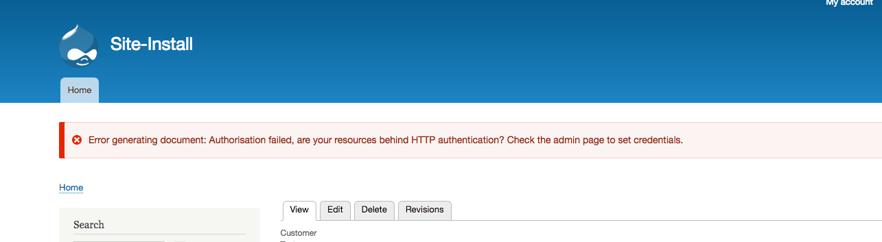HTTP Authentication - graceful failure when content not accessible