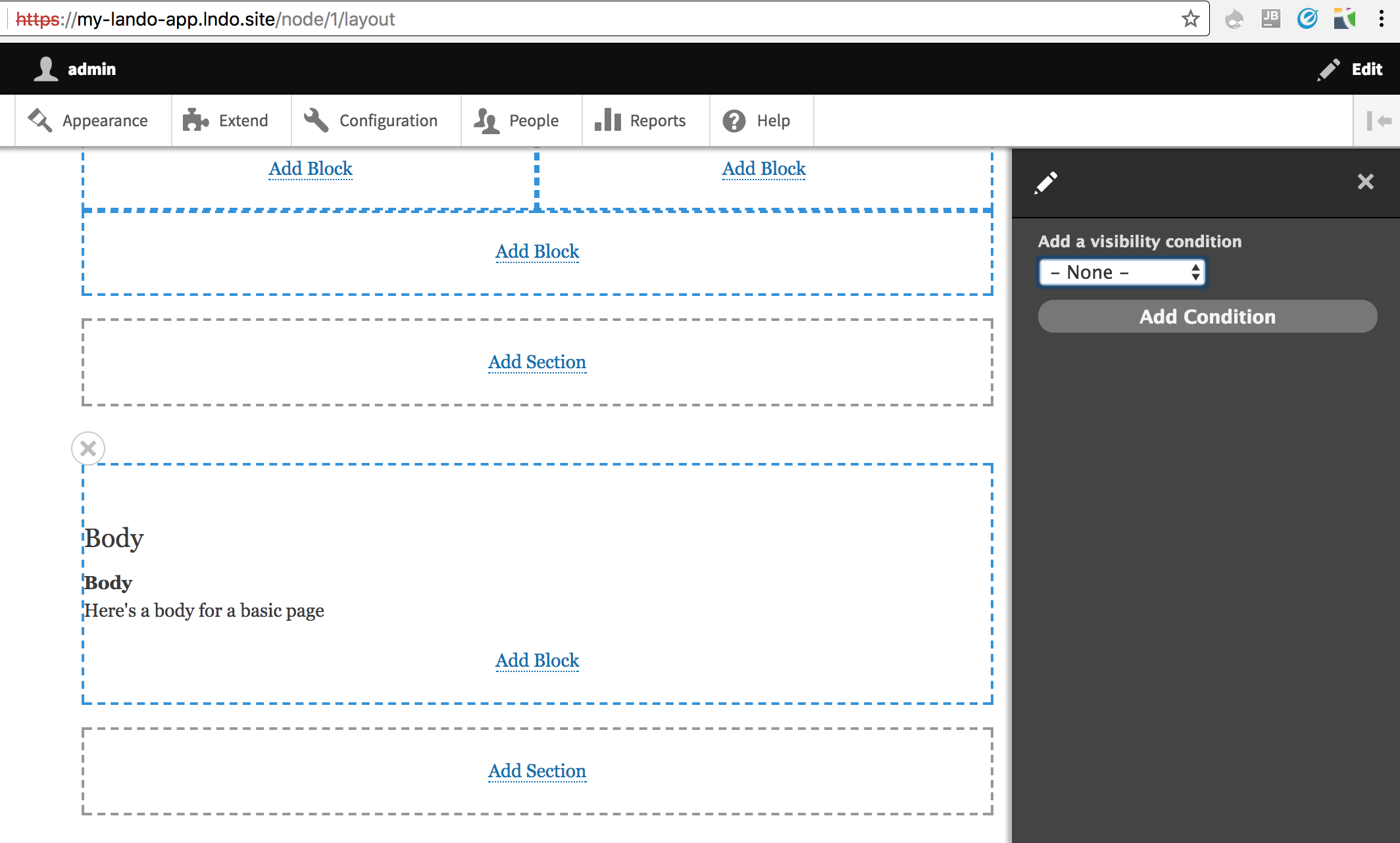 Add visibility control to blocks within Layout Builder