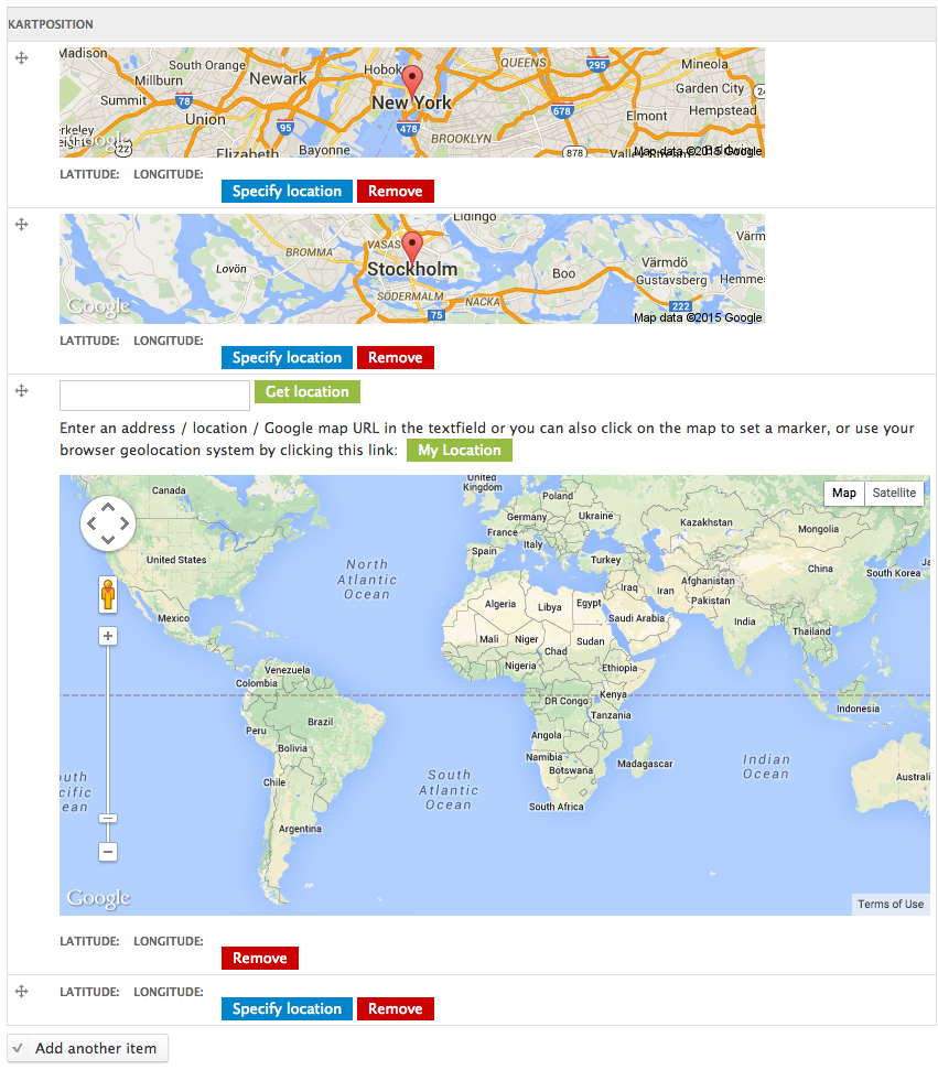 Multiple values with all Google maps loaded at the same time