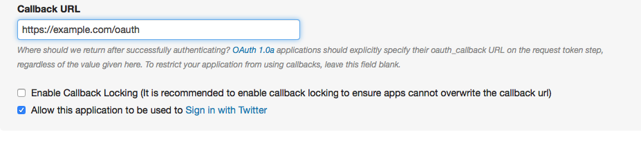 Could not obtain a valid token from the Twitter API  Please review