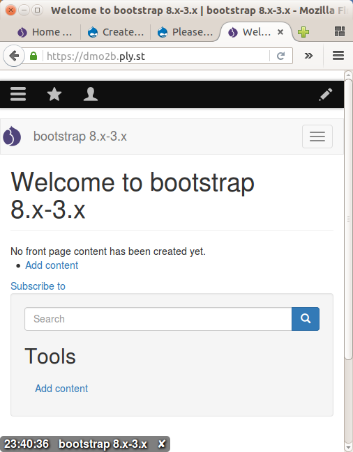 bootstrap 3 margin top