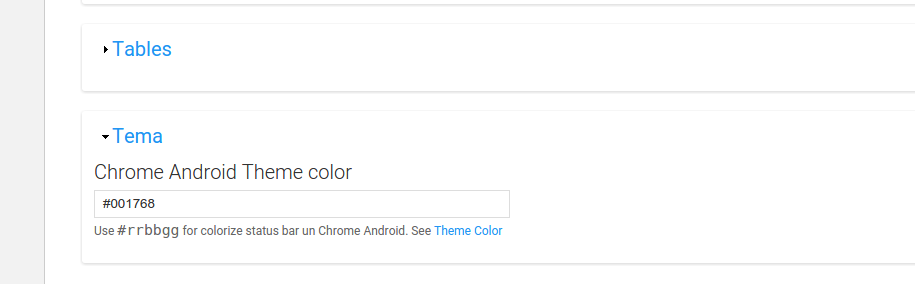 New Feature Chrome Android theme-color tag [#2667090] | Drupal org
