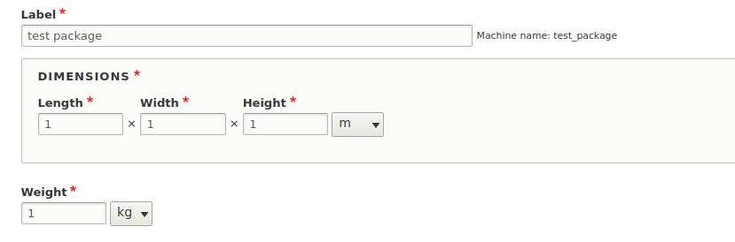 Error: g is not a valid unit of measurement for weight for