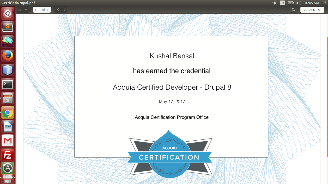 Acquia Certification Badge 2276569 Drupal