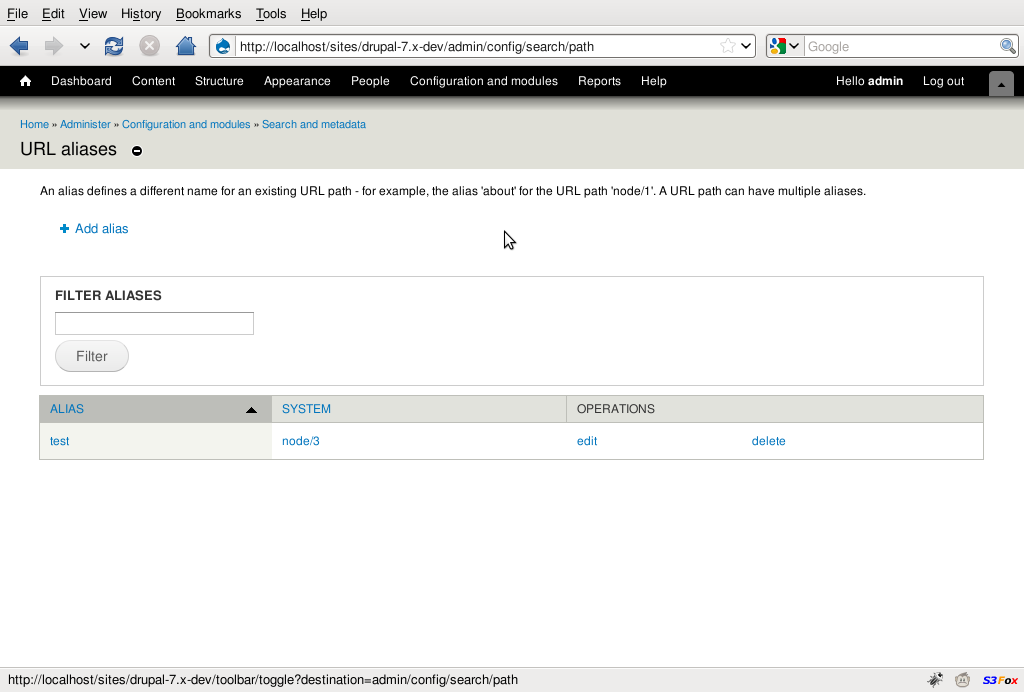Screenshot url aliases drupal 7 mozilla firefox for Table th width ignored