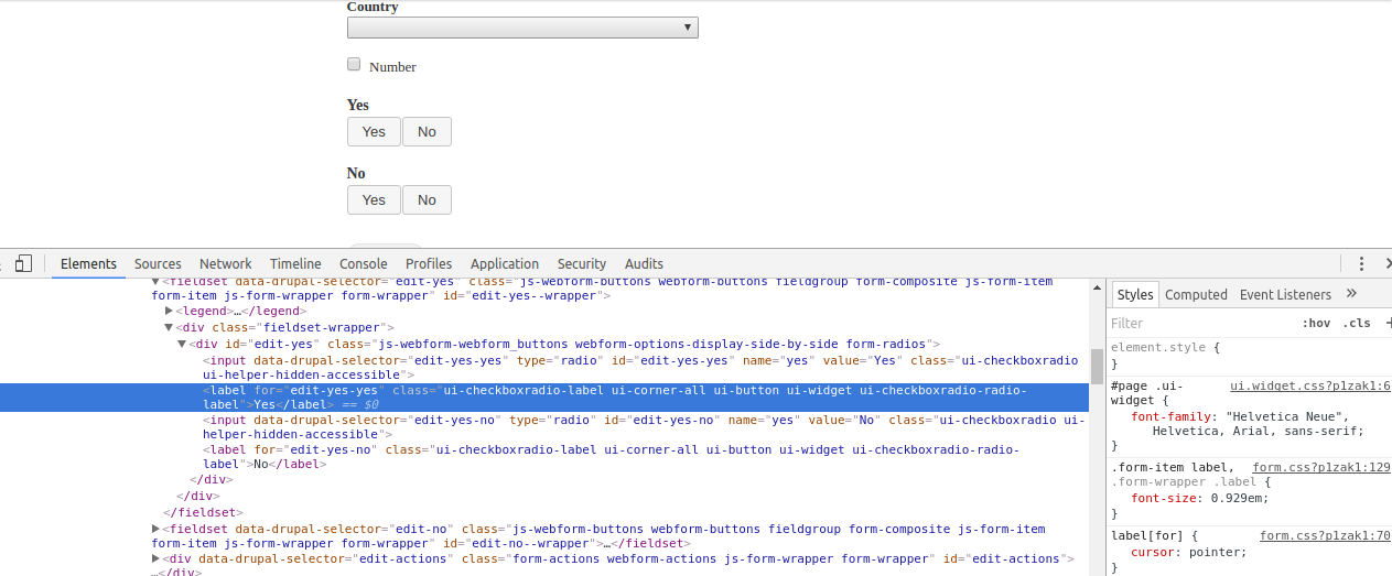 JQuery UI CSS dependencies are not met in core libraries yml