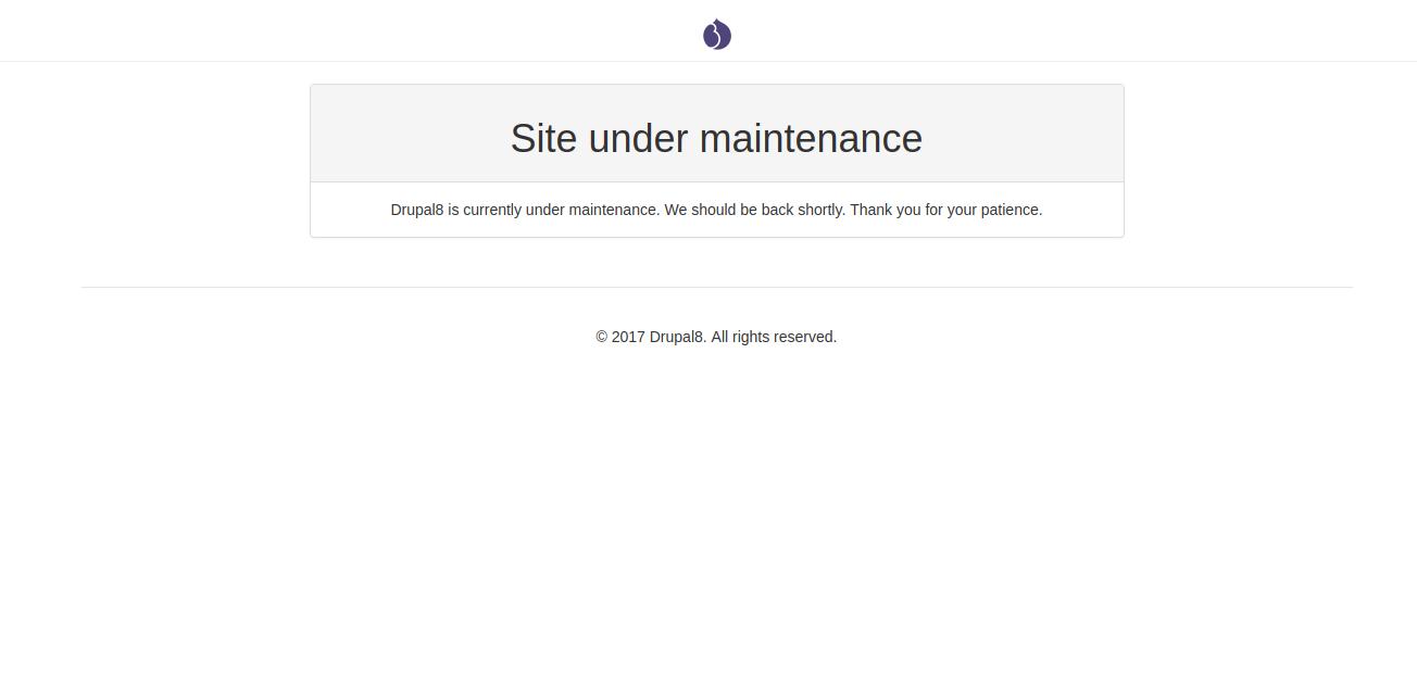 Add basic maintenance page [#2865975]   Drupal org