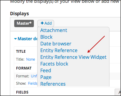 Configuring Entity Reference View Widget   Drupal org