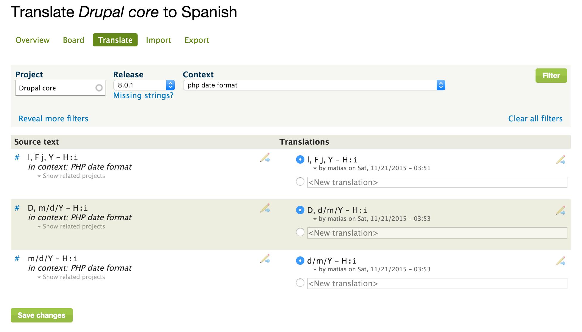Dating translation spanish