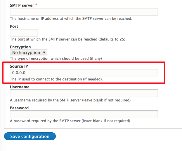 Possibility to define source ip if server has several and it is