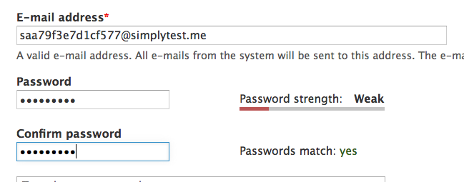 Check for common words in password strength indicators