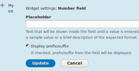 Field settings for numeric field widget with the patch