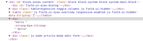 ajax js insert command sometimes wraps content in a div
