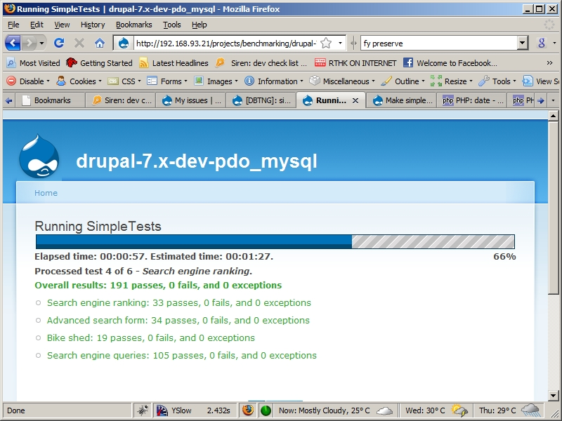 Make simpletest report running time [#329407] | Drupal org