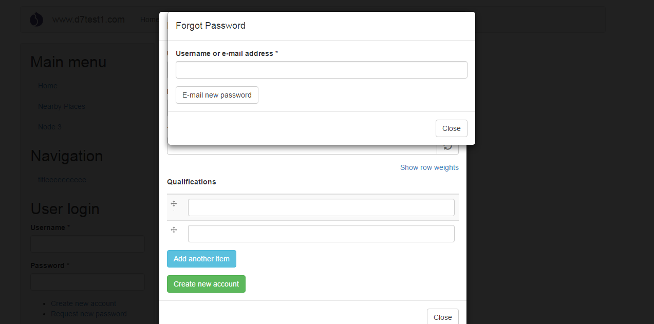 D7 bootstrap login authenticate 2756909 drupal if a multivalue field is there in registration form then while adding data to the field request new password and login forms are repeatedly displaying falaconquin
