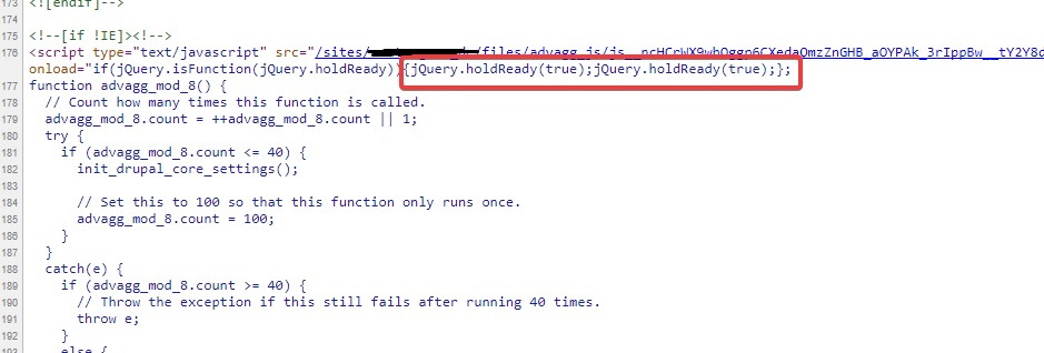 jQuery ready event does not work if last css file is a browser