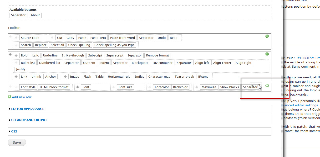 Allow to sort editor buttons [#277954] | Drupal org