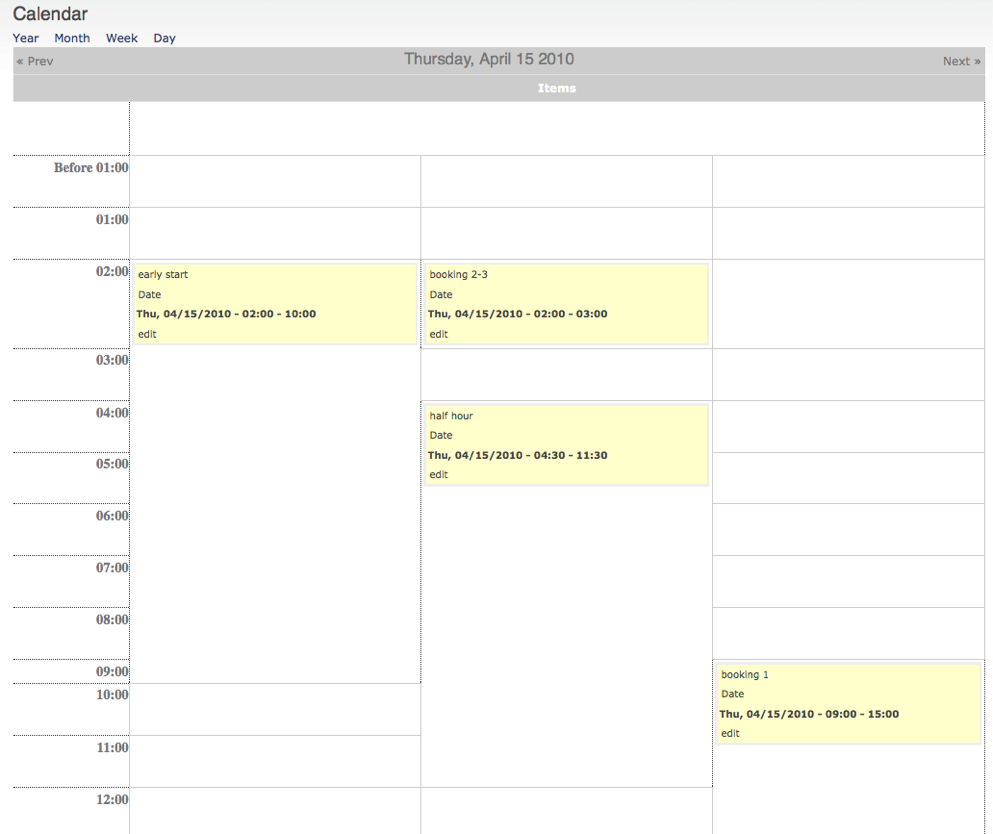 show events with FROM/TO spanning multiple hours on calendar day ...