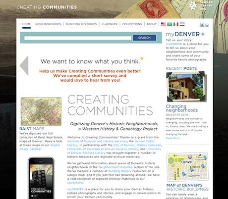 Creating Communities Screenshot