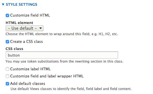Add css class to Content: Link to content <a> tag (not the