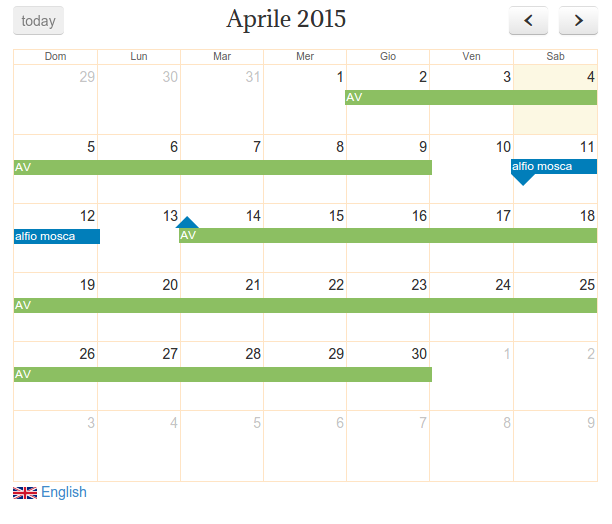 Calendar Design Bootstrap : Problem with the calendar design and responsive themes