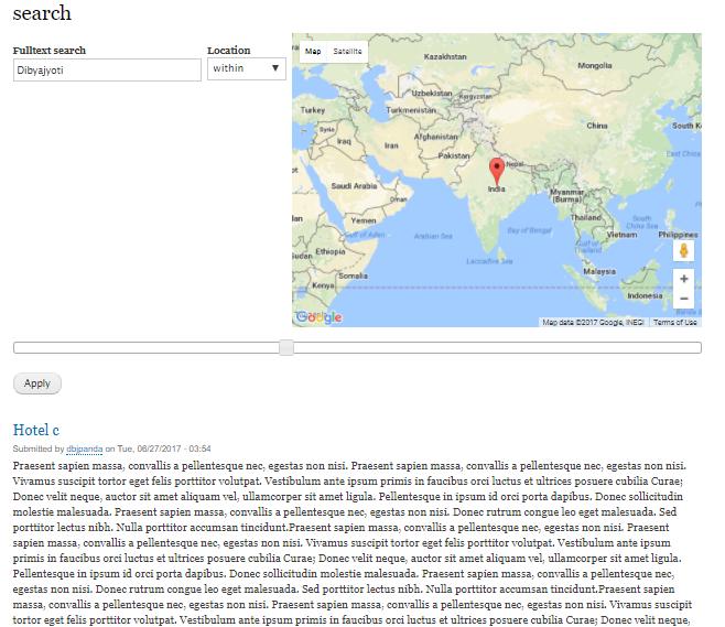 Current status of map plugin