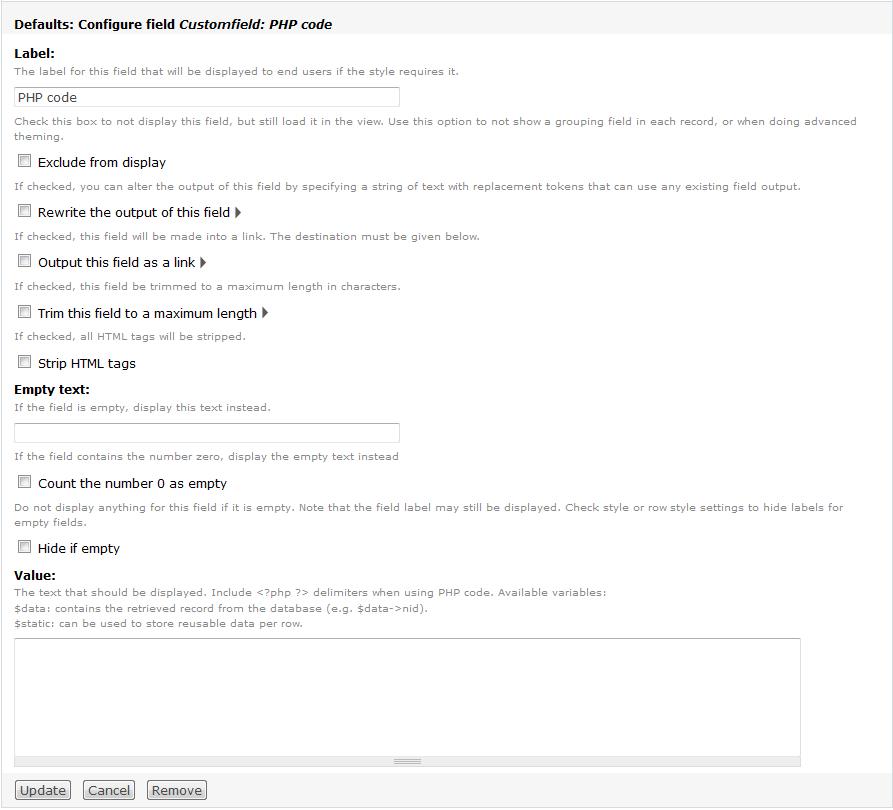 Custom field sorting is not working  [#617848]   Drupal org