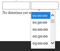 Timepicker look and feel on IE.