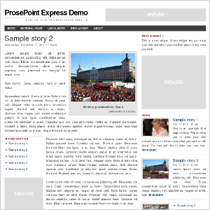 Sample story screenshot